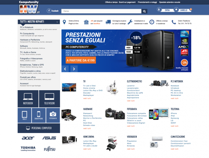 Sito e-commerce Prestashop con template responsive