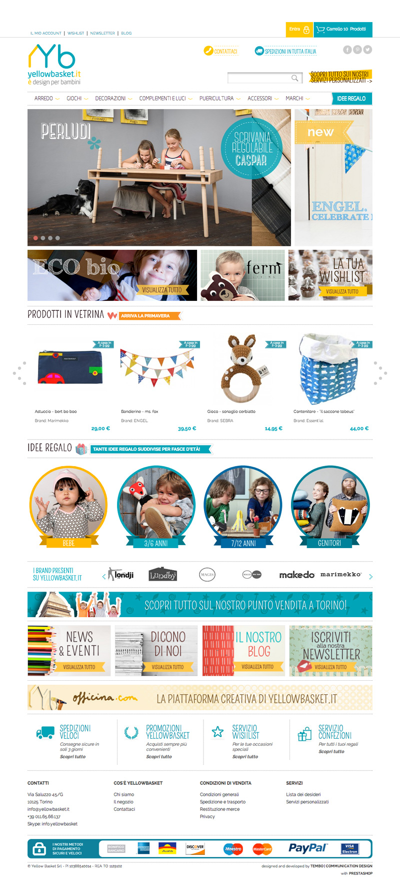 Sito e-commerce responsive Yellow Basket