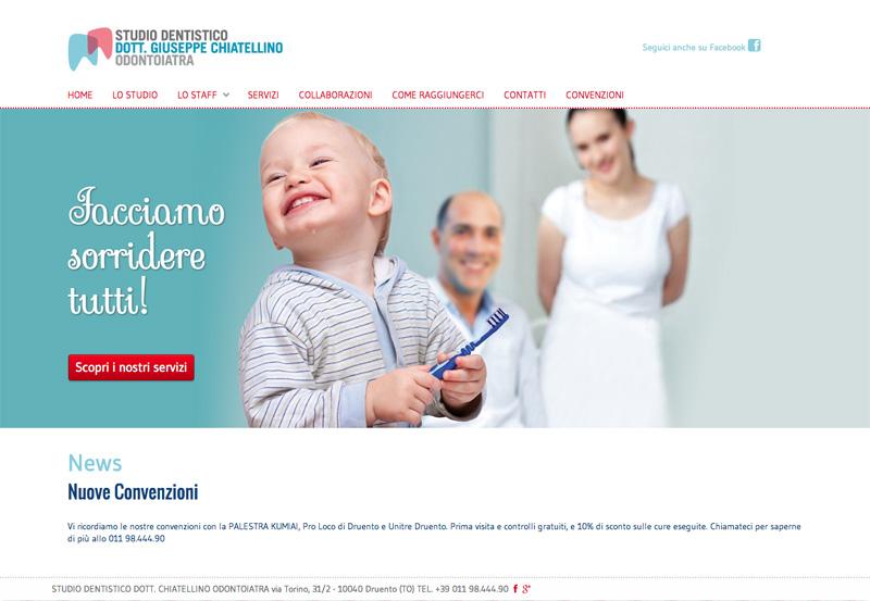 Sito internet responsive per Chiatellino Odontoiatra