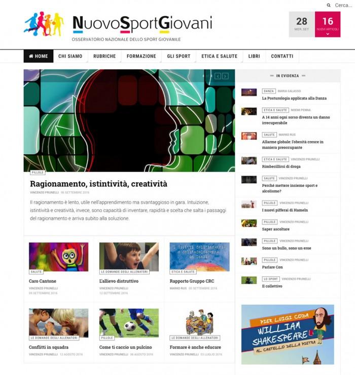 Sito internet Nuovo Sport Giovani